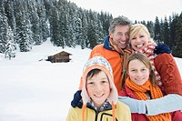Italy, South Tyrol, Family smiling, portrait