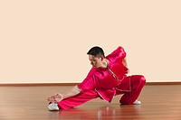 Kung Fu, Changquan, Pubu zhachang, Long Fist Style, Young man practicing martial arts