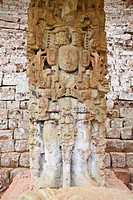 The Great Plaza, Estela N, Copan Ruins, UNESCO World Heritage Site, Honduras, Central America