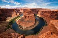 USA, Arizona, Horseshoe Bend, elevated view
