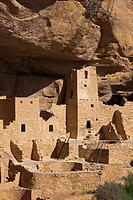 USA, Colorado, Mesa Verde National Park, Square Tower House