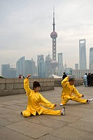 Morning Tai chi, Shanghai, China, Asia