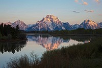 USA, Wyoming, Oxbow Bend at sunrise