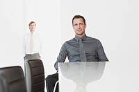 Germany, Cologne, Two businessmen in conference room