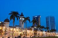 Sultan Abdul Samad Building and Dayabumi complex, Merdeka Square, Kuala Lumpur, Malaysia, Southeast Asia, Asia