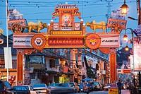 Chinatown Gate, Melaka Malacca, Melaka State, Malaysia, Southeast Asia, Asia