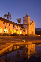 Fountain, Old Mission Santa Barbara, Santa Barbara, California, United States of America, North America