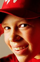 Happy Kid in Red Baseball Cap