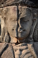 Angkor (Cambodia): relief on the Terrace of the Leper King