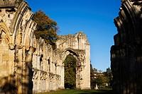 St Marys Abbey Ruin in Museum Gardens York Yorkshire England