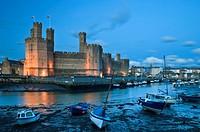 Caernarfon Castle, Caernarfon, UNESCO World Heritage Site, Gwynedd, Wales, United Kingdom, Europe