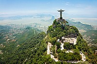 Christ the Redeemer on Corcovado Mountain, Rio de Janeiro Brazil South America The statue stands 38 m 125 feet tall and is located at the peak of the ...