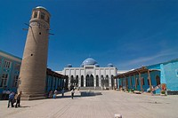 Mosque with minaret, Khojand, Tajikistan, Central Asia