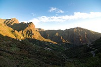 The hidden valley of Masca at sunset, Tenerife, Canary Islands, Spain, Europe