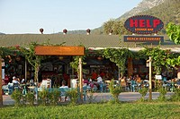 Popular Help Bar in the village of Oludeniz  Province of Mugla, Turkey