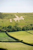 Osmington white horse in dorset