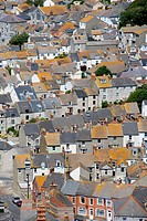 Terraced houses on isle of portland