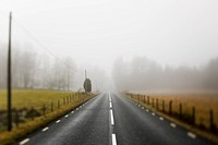 Scandinavian Peninsula, Sweden, Skåne, View of empty country road through landscape