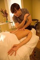 Patient Getting Back Massage