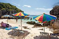 Beach on Ko Khai, a tiny coral island near Phuket, Thailand