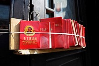 Wangfujing market, souvenirs, Mao's little red book, Beijing, China