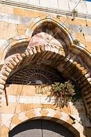 Detail of a palace gate, Deir el Qamar, Lebanon