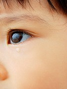 Close_up of a baby girl crying