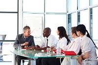Multi_ethnic business people interacting in a meeting