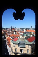 The city seen from the Powder Tower, Prague, Czech Republic