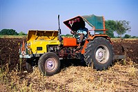 Tractor in field at Sholapur , Maharashtra , India