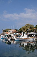Molyvos port, Lesvos island, Greece