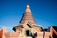 Low angle view of a temple, Phra Mahatat Napaphon Bhumisiri, Doi Inthanon National Park, Chiang Mai, Thailand
