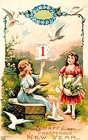 Happy and Prosperous New Year, Nostalgia Cards, 1900