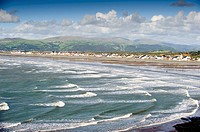 Borth village, Cardigan Bay coast, Ceredigion , west wales UK
