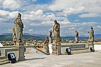 Soapstone sculpture of the Biblicial Prophets at Santuario do Senhor Bom Jesus de Matosinhos Built between 1758 and 1771 Located in Congonhas do Campo...