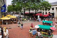 The famous Quincy Market in Boston Massachusetts