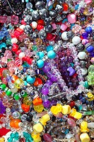 jewellery mixed colorful many jewels plastic jewelry background