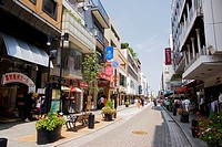 Motomachi shopping district, Yokohama City, Kanagawa Prefecture, Honshu, Japan