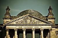 Deutscher Bundestag, Reichstag, Regierungsviertel, Berlin, Deutschland, Europa