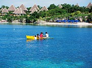 Family on boat at Panglao Island Nature Resort