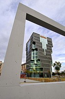 Copisa Tower (2007) by architect Oscar Tusquets, Plaça d´Europa square, L´Hospitalet de Llobregat, Barcelona province, Catalonia, Spain