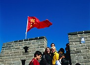 Tourists at the Great Wall, Badaling, Beijing, China