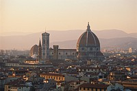 View at the cathedral at sunset, Florence, Tuscany, Italy, Europe