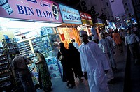 People at the market place at night, Dubai, United Arab Emirates, Middle East, Asia