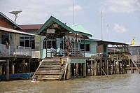 Water Village Stilt Houses, Kampong Ayer Water Village, Bandar Seri Begawan, Brunei Darussalam, Asia