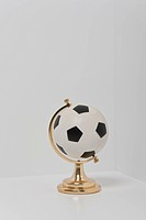 globe, miniature, soccer ball