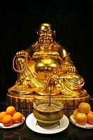 laughing buddha, house shrine, Gold