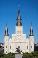 St. Louis Cathedral on Jackson Square, French Quarter, New Orleans, Louisiana, USA