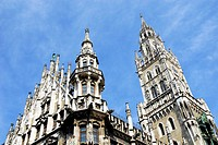New town hall, Marienplatz, Munich, Bavaria, Germany