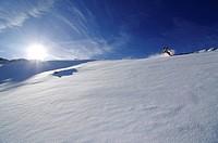 Snowboarder, Diavolezza, Sankt Moritz, Grisons, Switzerland,